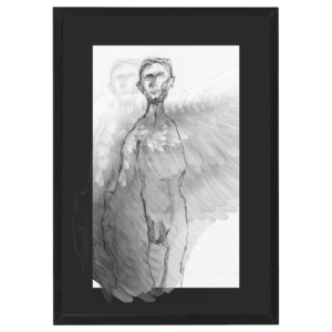 angel black aluminium frame