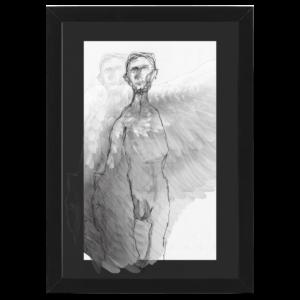 angel black wood frame