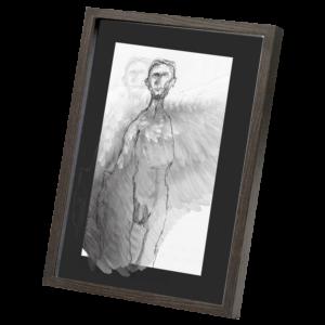 angel dark wood frame