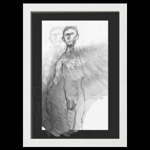 angel white wood frame