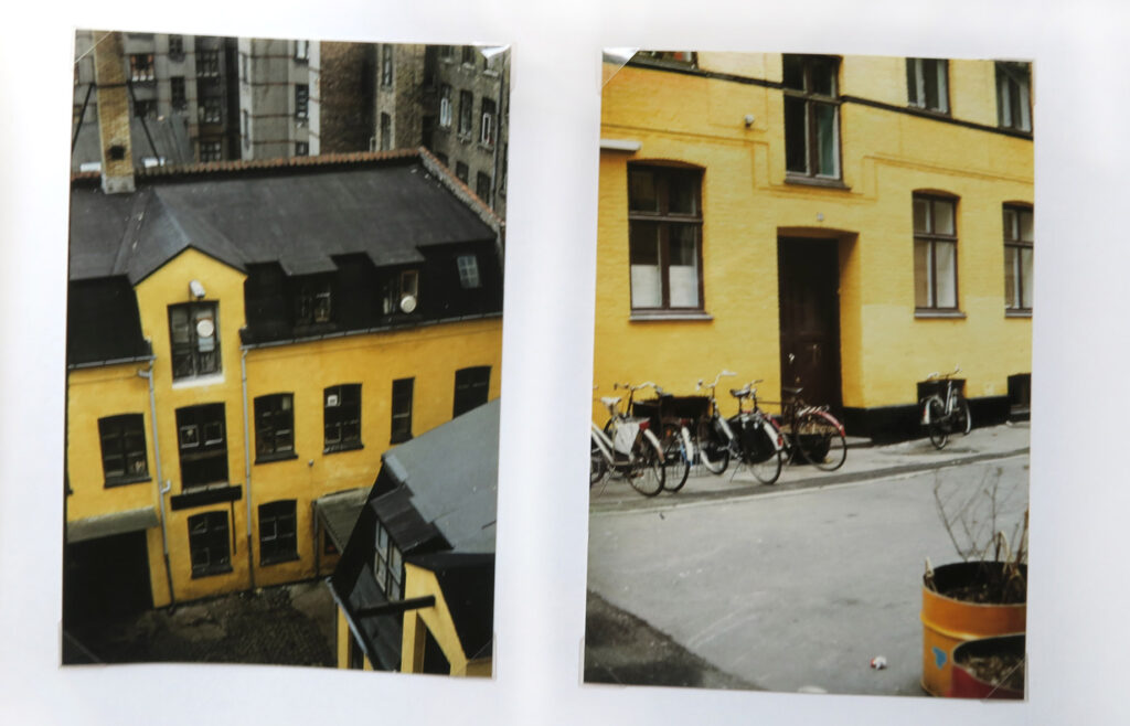 Double picture of yellow house from Copenhagen Denmark on the website A Better Version