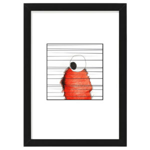 stripe 1 black wood frame