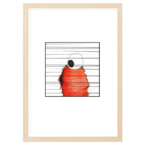 stripe 1 wood frame