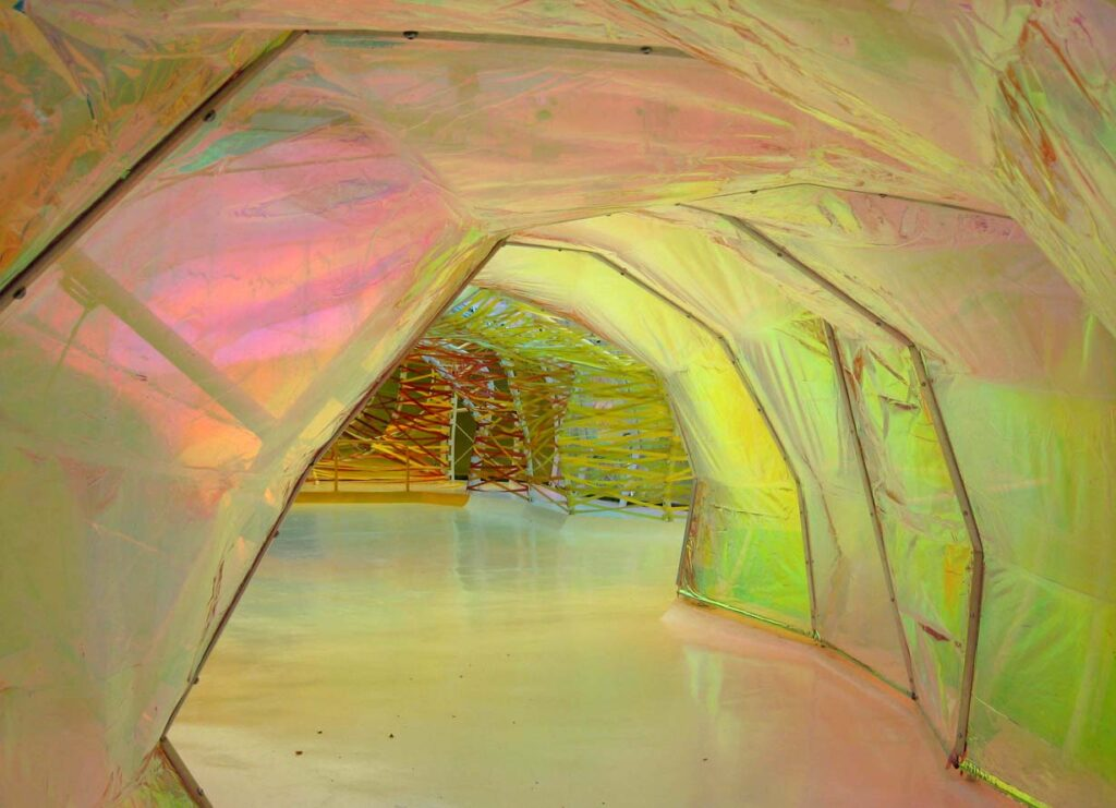 View of part of the installation by SelgasCano at the Serpentine Gallery in London on the website A Better Version