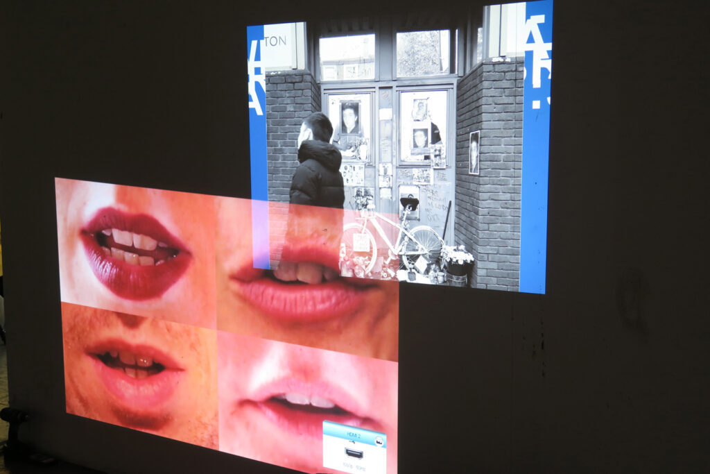 Video artwork at a student exhibition at CSM in London on the website A Better Version